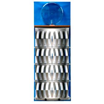 3D-Luftbefeuchter - Komplettgerät Metall mit Dekorfolie blau