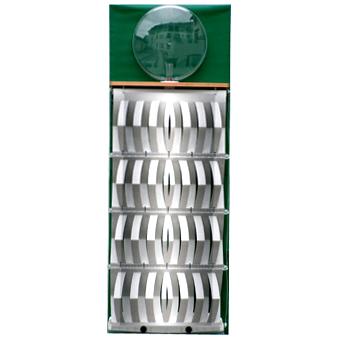 3D-Luftbefeuchter - Komplettgerät Metall mit Dekorfolie grün