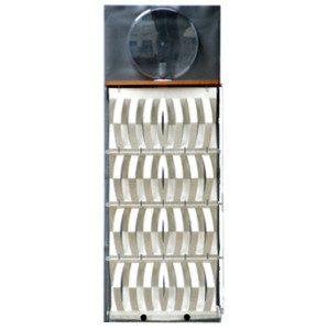 """3D Befeuchter - Komplettgerät Pergament mit Dekorfolie """"metall"""""""