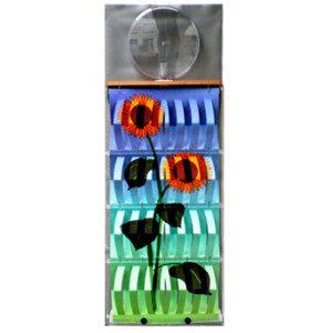 """3D Befeuchter - Komplettgerät Sonnenblume mit Dekorfolie """"metall"""""""