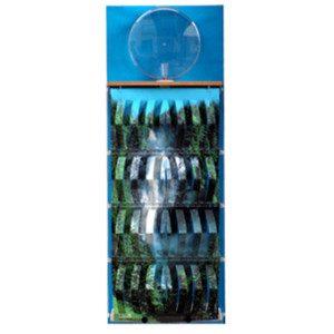 "3D Befeuchter - Komplettgerät Wasserfall mit Dekorfolie ""blau"""