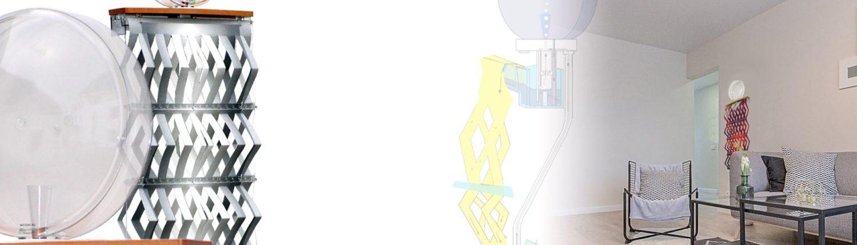 Modern, ökologisch, gesundes Wohnzimmer mit Luftbefeuchter wandhängend