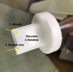 Verschluss zu 3D-Befeuchter, die neuste Version bietet den finalen Stopp zum Wasserfluss