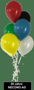 20 Jahre Necono AG 3D-Luftbefeuchter an Luftballons