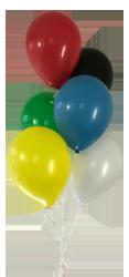 Ballon-Gruppe sehr klein